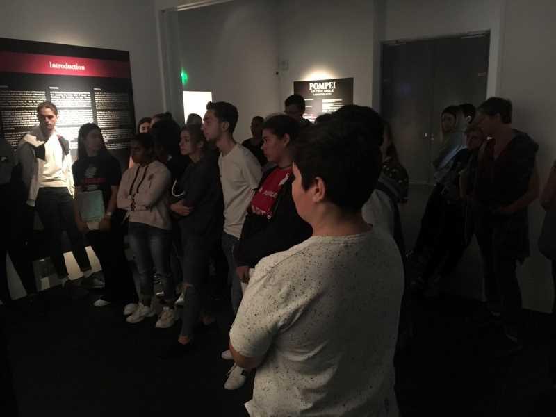 Les élèves de seconde TCVA en visite au musée de la Romanité à Nîmes