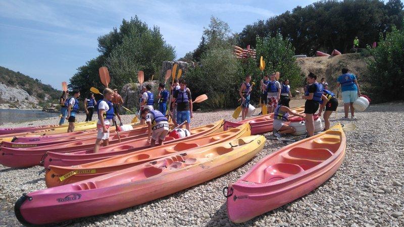 Depart du canoé