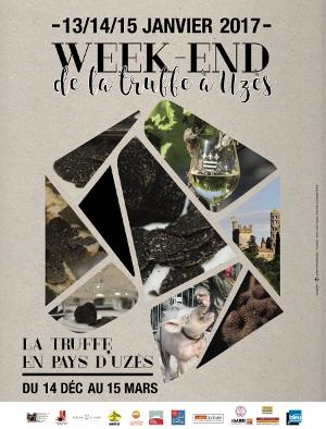 Affiche du week end de la truffe à Uzès